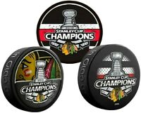 Chicago Blackhawks 2010, 2013 & 2015 Stanley Cup Champions Hockey Pucks (3-Pack)