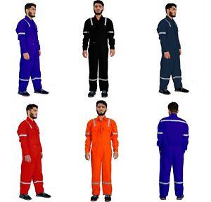 Men's Coveralls Work Wear Overalls Cotton Boiler Suit Protective Mechanics Dress