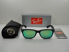 RAY-BAN NEW WAYFARER SUNGLASSES RB2132 622/19 BLACK FRAME/GREEN MIRROR LENS 52MM