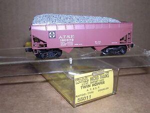 "KADEE #55011;& GA-72  2-Santa Fe 2-Bay Hopper Cars #180978 & #78130 ""N"" Gauge"