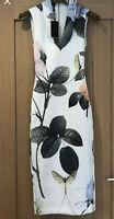 🌸 New Ted Baker Ravina Rose Midi Bodycon Occasion Pencil Dress, Size UK 8 🌸