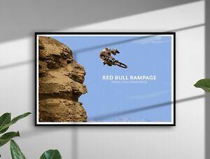 Red Bull Rampage Mountain Bike MTB Illustration Downhill biking Posters Prints