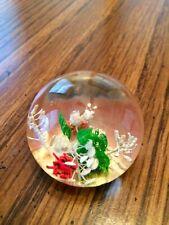 """Botanical Gems"" Lucite Paperweight by Peeties Creations Ark. Beautiful Flowers!"