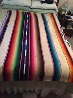 Southwestern Multi-Colored Wool Blanket/Throw,