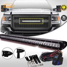 20inch Low Profile LED Light Bar Single Row Combo For 2015-2018 GMC SIERRA HD