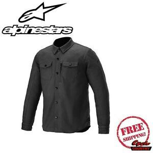 ALPINESTARS NEWMAN SHIRT JACKET  BLACK 2XL 4300120-10-2XL NEW FREE SHIPPING