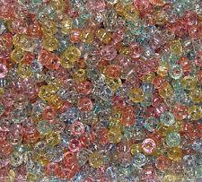 Multi Colors Glitter 7mm mini Pony Beads 1000pc made in USA crafts kandi jewelry