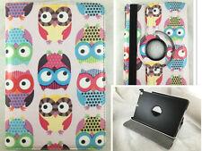 COVER CASE TABLET iPAD MINI 1 2 3 SWIVEL 360º DRAWING OWLS