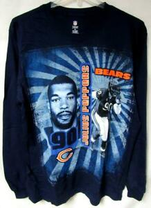 Chicago Bears Men XL Long Sleeve Screened Julius Peppers #90 T-shirt C1 1148