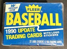 1990 Fleer Baseball Update Complete FACTORY SEALED Box Set - 132 Cards