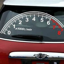 1PC Creative JDM Speedometer 1000r/min Rear Windshield Vinyl Car Sticker Decal