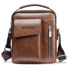 UK Men's Genuine Leather Messenger Satchel Bags Cross body Handbag Shoulder Bag