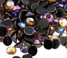 185 Hotfix SS20 Strasssteine 5mm GOLD AB GLAS Bügelsteine Glitzersteine 64