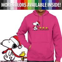 Peanuts Christmas Snoopy Woodstocks Cute Unisex Pullover Hoodie Hooded Sweater