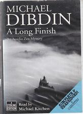 Michael Dibdin A Long Finish 8 Cassette Audio Book Unabridged Aurelio Zen