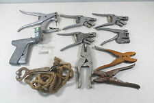 Vintage Lot Ear Tag Pliers Bull Nose Ring Lead Veterinarian  Ral Gun Livestock