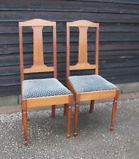 Pair of French Inlaid Mahogany Bedroom/Occasional Chairs - (CBC2)