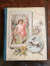 Very RARE VINTAGE HARDCOVER OUR PICTURE BOOK Perry & Baldey ~ CHRISTMAS 1885 ~