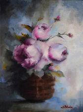 Art Flowers PEONIES Original Floral Still Life Impressionism Oil Painting