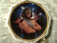 Lieutenant Worf Star Trek The Next Generation Collector Plate #4619B by Hamilton