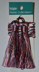 """Curtain & Chair TieBack 27""""spread with 3"""" double tassel Set of 2 - 17 colors!!!"""