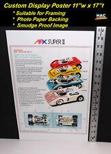 "Custom AFX Wall Art - AURORA ""1973 The AFX SUPER II's""  17 T x 11 W Hi QA POSTER"