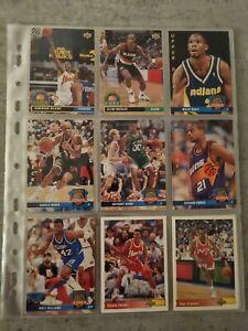 Lot de 33 cartes NBA Upper Deck 92/93 (Wilkins, Drexler, Barkley, Malone)