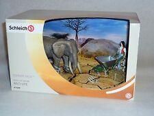 SCHLEICH 41409 - Wild Life Elefanten Pflege Set Figur WILD LIFE Scenery Pack