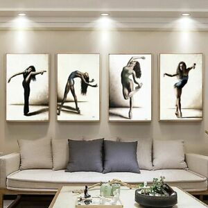 Ballet Dancing Picture Home Decor Nordic Canvas Painting Wall Art Poster Retro
