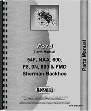 Sherman 54F F8 Backhoe Parts Manual Catalog Ford Attachment