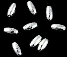 8x4mm Rice Silver Plated Spacer Bali Bead Tibetan Jewelry Making Supplies Loose
