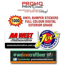 1000 Custom Vinyl Car & Truck Bumper Stickers FREE Artwork & Postage