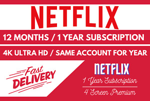NETFLX Gift & Warranty ✅ 1 Year ✅ 4K UltraHD ✅ 4 Screens ✅ Fast Delivery