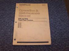 Cat Caterpillar D3C D4C Track Type Tractor Owner Operator Maintenance Manual