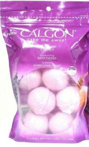 1 Bags Calgon Take Me Away Lavender & Honey 8 Ct Moisturizing Vit E Bath Fizzies