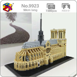 PZX9923 World Architecture Notre Dame de Paris Mini Diamond Blocks Building Toy