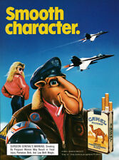 Camel filters cigarettes print ad 1989 Smooth Character - Joe Camel, jets