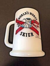 Vtg Ziggy World's Worst Skier Milk Glass Coffee Beer Mug Stein 1977 Tom Wilson