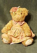 "6"" Russ Abigail Teddy Bear With Dress plush Stuffed Animal #27093"