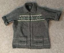 Woolrich~Women's Knit Sweater~Cardigan~Size XL Full Zip Spruce  Green Beige
