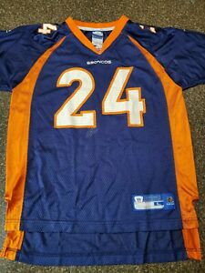 Reebok DENVER BRONCOS Jersey CHAMP BAILEY Home Youth Large (14-16)
