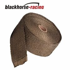 "2""X 50FT Titanium Manifold Header Exhaust Turbo Intake Mesh Heat Wrap"