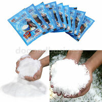 1~100 Packs Instant Snow Fluffy Super Absorbant Magic Prop Christmas Party Decor
