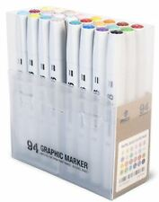 MTN 94 GRAPHIC INK DRAWING MARKER PEN SET - 24 MAIN SET B BASIC / PASTEL COLOURS
