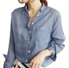 Nueva Moda para Mujer Señora Suelto Manga Larga Blusa informal Blusa Camisa Prendas para el torso