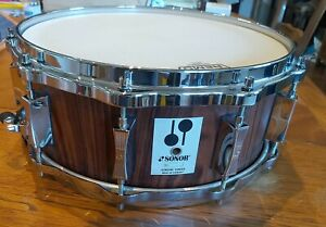 """Sonor Phonic Re-issue Snare Drum in Natural Rosewood 14"""" x 5.75"""""""