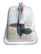 A VINTAGE H J Wood Piazza Ware Butter Dish & Lid