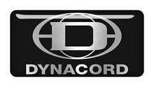 "Dynacord 2""x1"" Chrome Domed Case Badge / Sticker Logo"