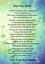 Green & Blue What Is A Mother Personalised Poem Certificate