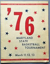 Maryland State Basketball Tournament 1976 Md.'s Cole Field House